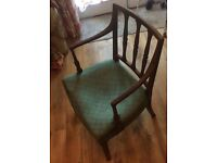 Quirky antique wide chair