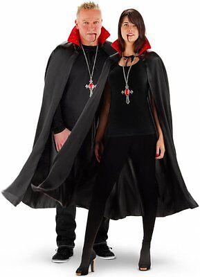 Vampir Umhang für Erwachsene mit Licht Dracula Kostüm Herren Damen Karneval neu ()