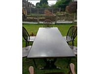Dining Room Table, 6 Chairs Used