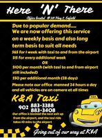 Parking close to the airport with taxi rides