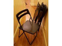4x Folding IKEA chairs - black