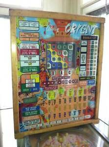 Bally Orient, Venice, London or Hawaii Bingo pinball machine