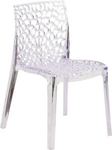 RESTAURANT TRANSPARENT S CHAIR INDOOR-OUTDOOR DINING CHAIR