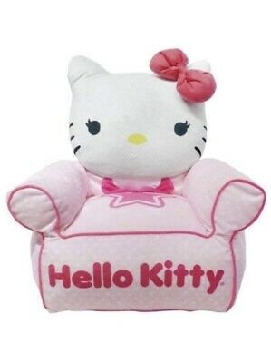 Hello Kitty Chair (Sanrio Hello Kitty Kids and Toddlers Sofa Bean Bag Chair, Made In)