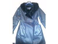 Ladies Armani black winter coat, with inside black faux fur