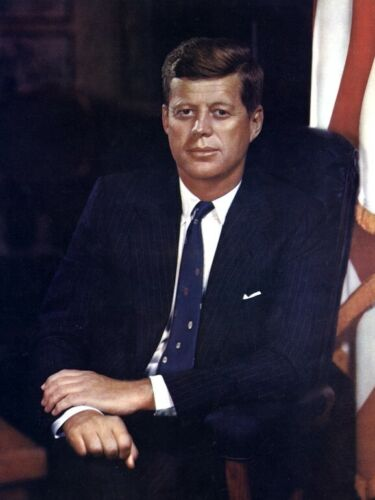 John F Kennedy 35th President Historical Matte Art Portrait 8.5x11 Borderless