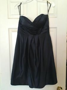 Women's navy blue cocktail or bridesmaid dress