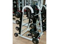 Barbell and rack