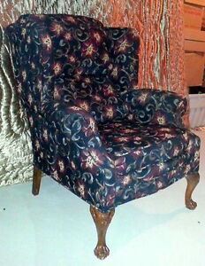 Two High End Wing Chairs For Sale