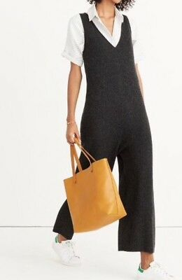 NEW MADEWELL $118 Sweater-Jumpsuit SizeXXS  H3392 In Charcoal SOLDOUT!!