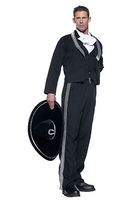 ADULT MARIACHI SPANISH MEXICAN HISPANIC FIESTA COSTUME W/ SOMBRERO CINCO DE MAYO (Mariachi Costumes)