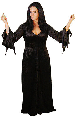HALLOWEEN/Scary/Horror/The Addams Family Ladies MORTICIA ALL SIZES & PLUS SIZES