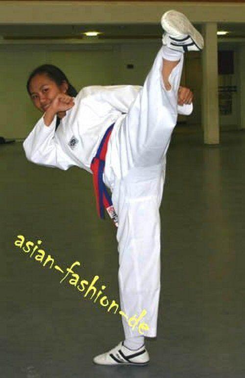 Taekwondoanzug 100% Baumwolle Gr. 110-200cm TKD Anzug Dobok Koreanischer Schnitt