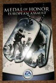 Ps2 sony playstation 2 Medal Of Honour European Assault game booklet only. gc