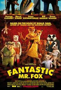 Fantastic Mr. Fox Movie POSTER C 27x40 George Clooney Meryl Streep Willem Dafoe