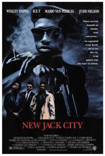 New Jack City (1991) Style-A Wesley Snipes Chris Rock Ice-T Movie Poster 27x40""