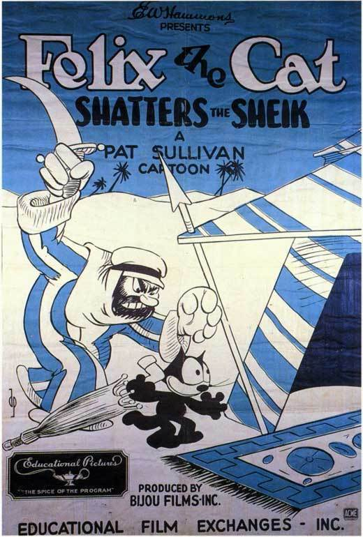 FELIX THE CAT SHATTERS THE SHEIK Movie POSTER 27x40