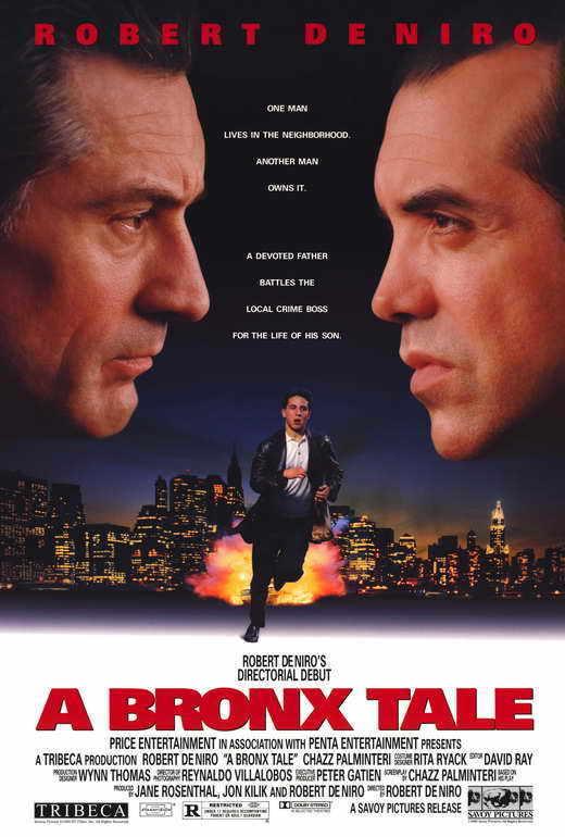 A BRONX TALE Movie POSTER 27x40 B Robert De Niro Chazz Palminteri Lillo Brancato