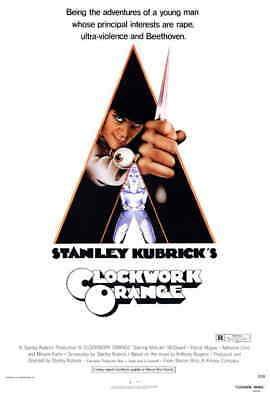 A Clockwork Orange (1971) Style-A Vintage 70s Stanley Kubrick Movie Poster 27x40