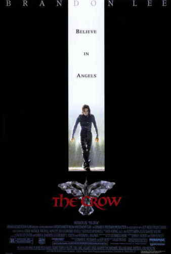 The Crow (1994) Style-A 90s Brandon Bruce Lee Action Movie Poster Size 27x40""