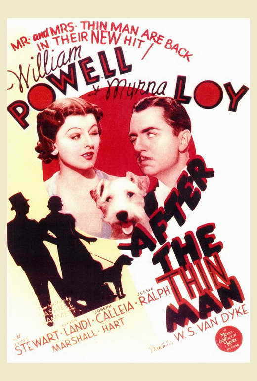 AFTER THE THIN MAN Movie POSTER 27x40 William Powell Myrna Loy James Stewart