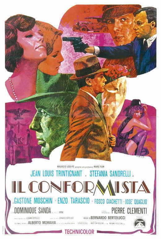 THE CONFORMIST Movie POSTER 27x40 Italian Jean-Louis Trintignant Stefania