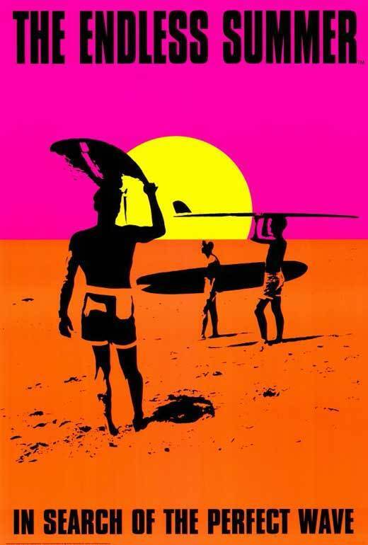 THE ENDLESS SUMMER Movie POSTER C 27x40 Bruce Brown  Mike Hynson Robert August