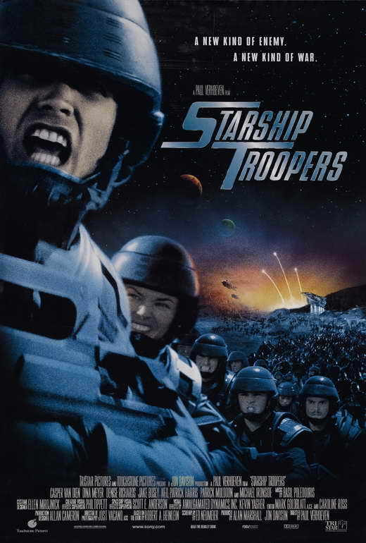 STARSHIP TROOPERS Movie POSTER D 27x40 Casper Van Dien Dina Meyer Denise Richard