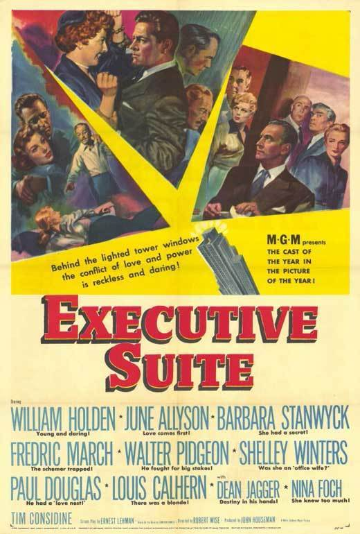 EXECUTIVE SUITE Movie POSTER 27x40 William Holden June Allyson Barbara Stanwyck