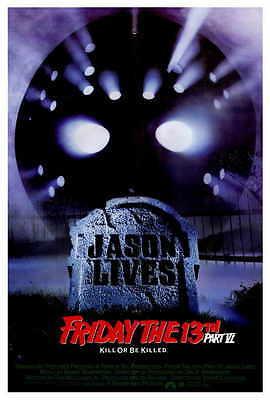 FRIDAY THE 13TH PART 6 JASON LIVES Movie POSTER 27x40 Thom Mathews Jennifer