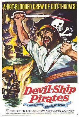 DEVIL-SHIP PIRATES Movie POSTER 27x40 Christopher Lee Barry Warren John Cairney