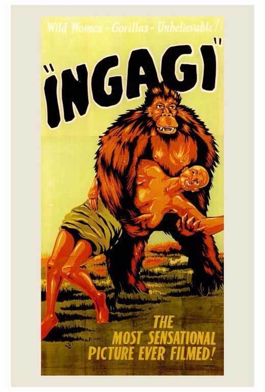 INGAGI Movie POSTER 27x40 Sir Hubert Winstead Daniel Swayne Charles Gemora