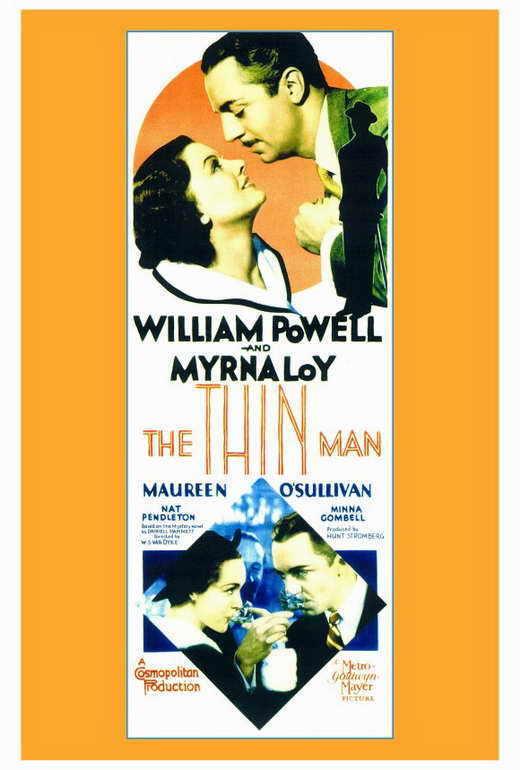 THE THIN MAN Movie POSTER 27x40 William Powell Myrna Loy Maureen O