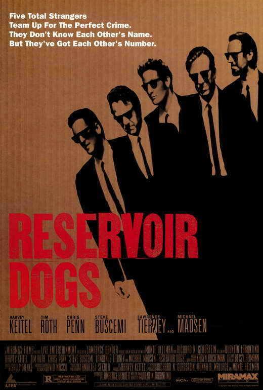 RESERVOIR DOGS Movie POSTER PRINT E 27x40 Harvey Keitel Tim Roth Michael Madsen