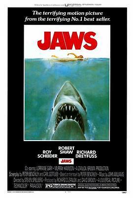Jaws Movie Poster 27 X 40 Roy Scheider  Richard Dreyfuss   A  Licensed New