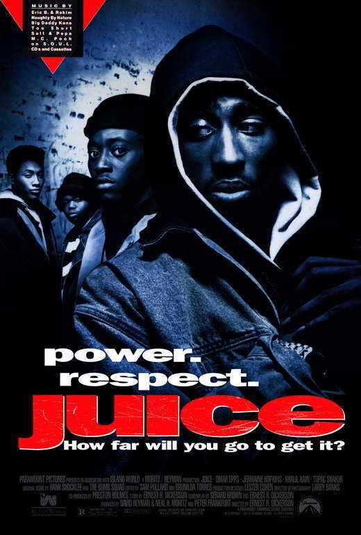 "JUICE Movie POSTER PRINT 27x40 Omar Epps Jermaine ""Huggy"" Hopkins Tupac Shakur"