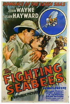 THE FIGHTING SEABEES Movie POSTER 27x40 John Wayne Susan Hayward Dennis O'Keefe