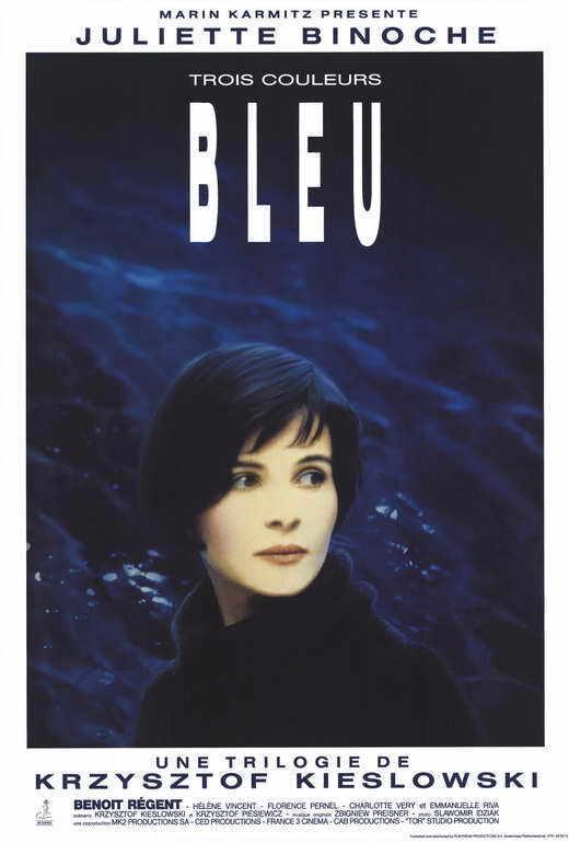 TROIS COULEURS: BLEU Movie POSTER 27x40 B Juliette Binoche Benoit Regent