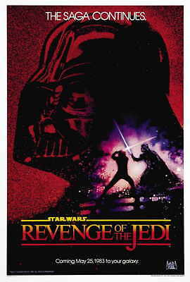 """REVENGE OF THE JEDI Movie Poster [Licensed-NEW-USA] 27x40"""" Theater Size (Lucas)"""