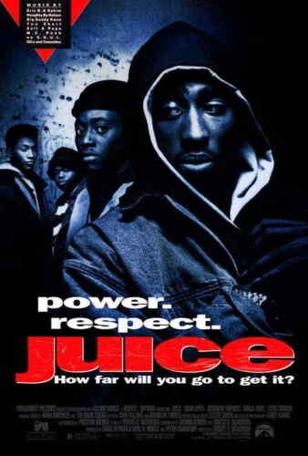 Juice (1992) Style-A Samuel Jackson Tupac Shakur Omar Epps Movie Poster 27x40