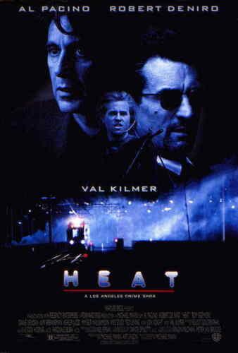 "Heat (1995) Style-E 90s Al Pacino Robert De Niro Val Kilmer Movie Poster 27x40"""