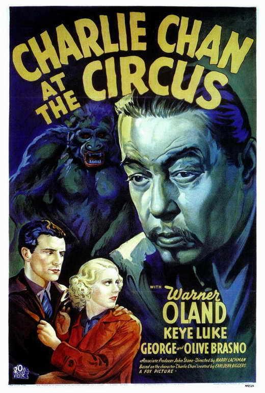 CHARLIE CHAN AT THE CIRCUS Movie POSTER 27x40 Warner Oland Keye Luke George