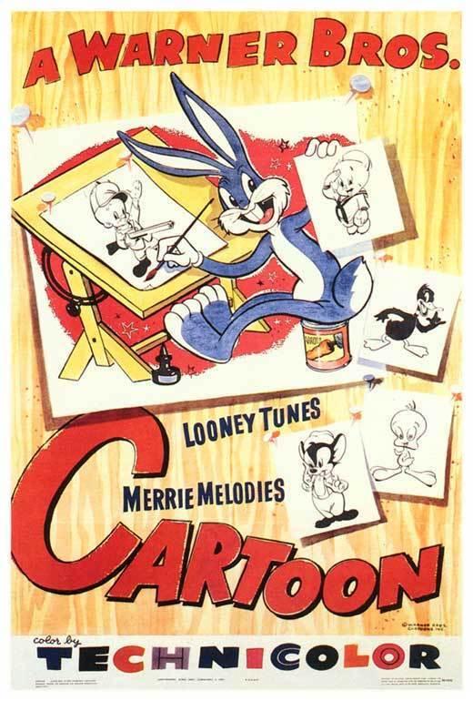 A WARNER BROTHERS CARTOON Movie POSTER 27x40 Bugs Bunny Daffy Duck Tweety Elmer