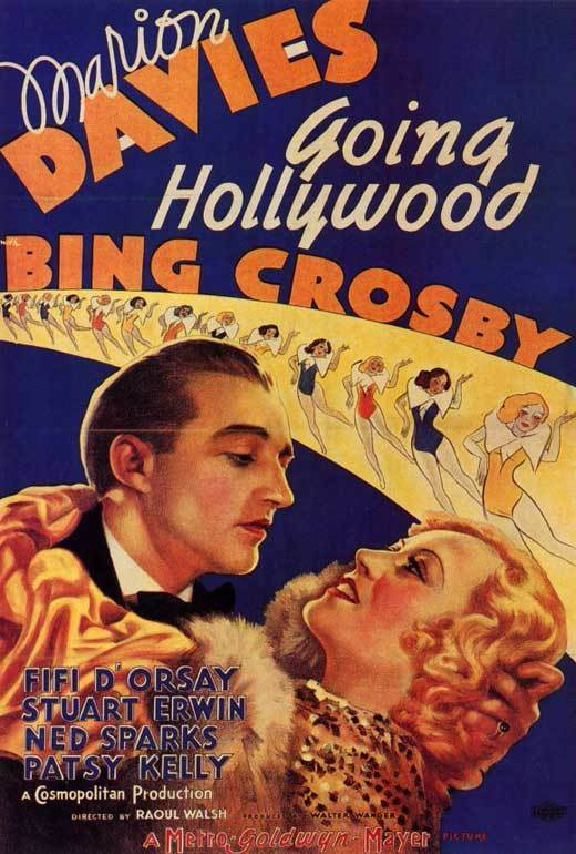 GOING HOLLYWOOD Movie POSTER 27x40 Marion Davies Bing Crosby Fifi D