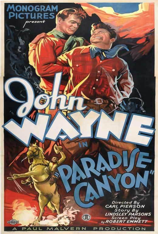 PARADISE CANYON Movie POSTER 20x40 C John Wayne Marion Burns Earle Hodgins