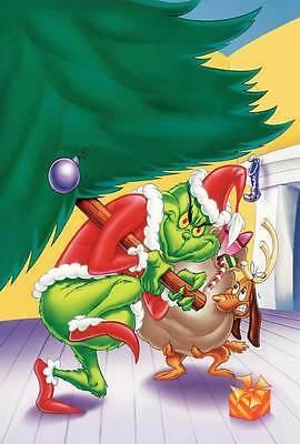 HOW THE GRINCH STOLE CHRISTMAS Movie POSTER 27x40 Boris Karloff