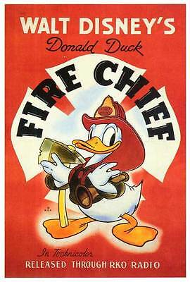 FIRE CHIEF Movie POSTER 27x40 Clarence Nash