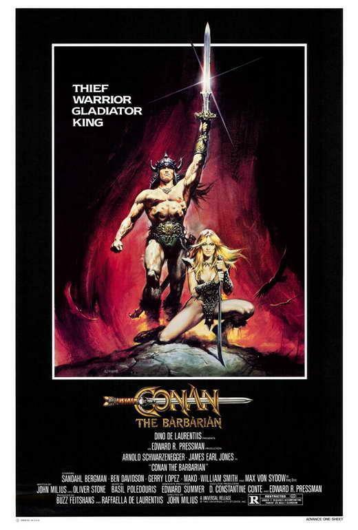 Conan the Barbarian Movie POSTER 27 x 40, Arnold Schwarzenegger, A