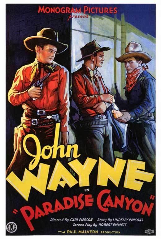 PARADISE CANYON Movie POSTER 27x40 John Wayne Marion Burns Earle Hodgins Yakima