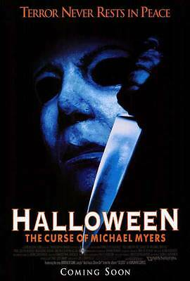 HALLOWEEN 6: THE CURSE OF MICHAEL MYERS Movie POSTER 27x40 Donald Pleasence